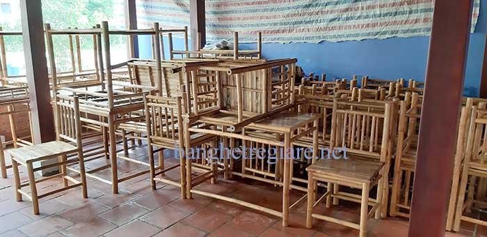 Bàn ghế tre trúc